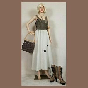 Suede german dress